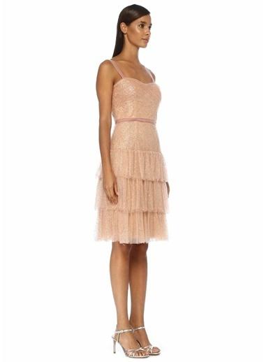 Marchesa Notte Elbise Altın